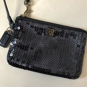 Coach Sequin Wristlet!